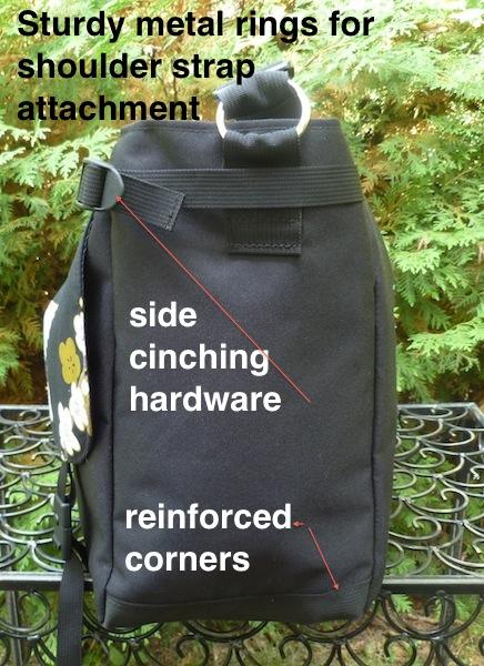 large messenger bag with side pockets
