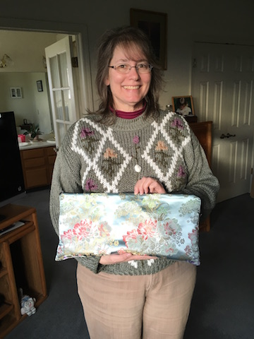 Custom made bag for knitting supplies