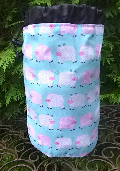 pigs bag for mahjong tiles or knitting projects