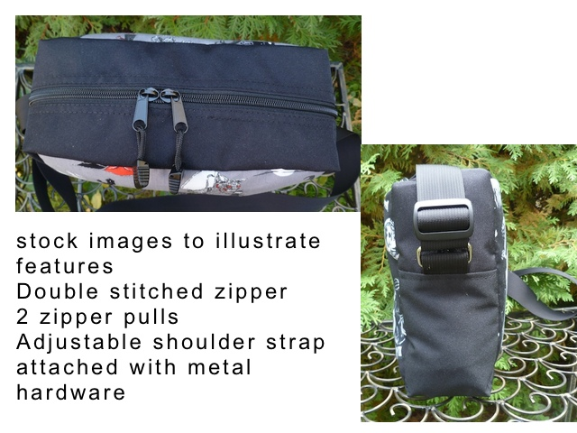 zippered cross body bag
