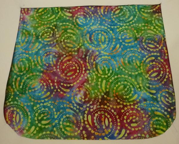 colorful batik flap for messenger bag