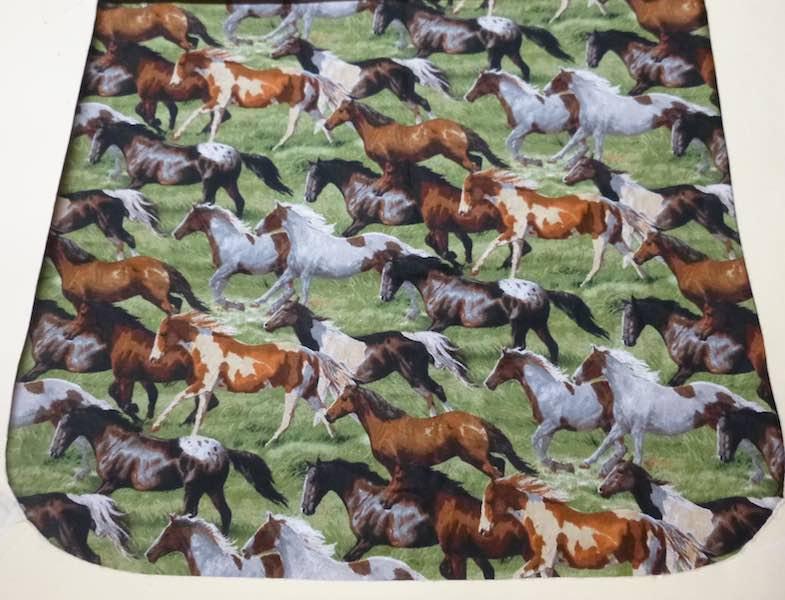 Horses flap for messenger bag