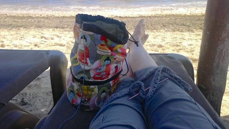 Knitting bag in Cancun