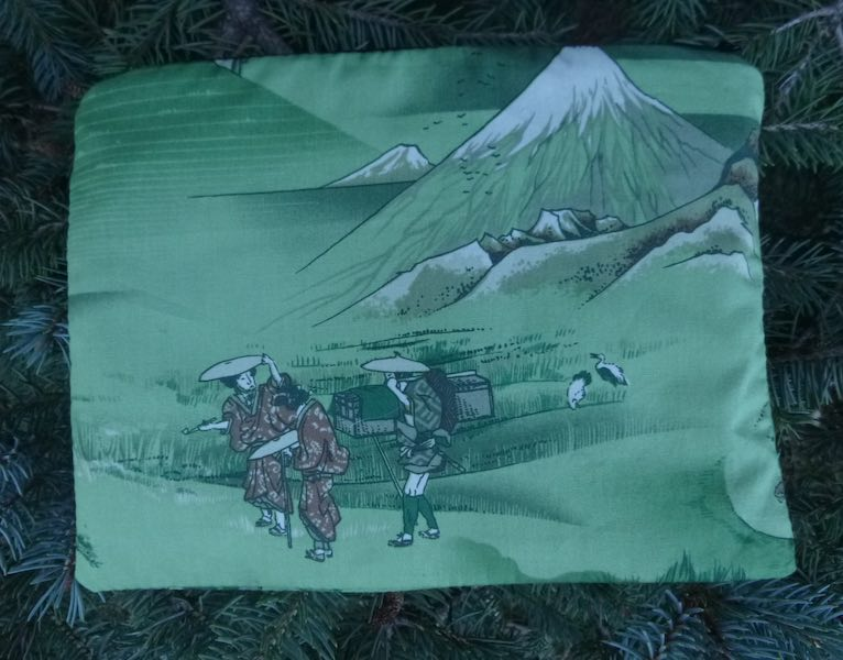 Japanese scenes mahjong card and coin purse