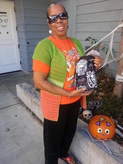 Halloween knitting bag