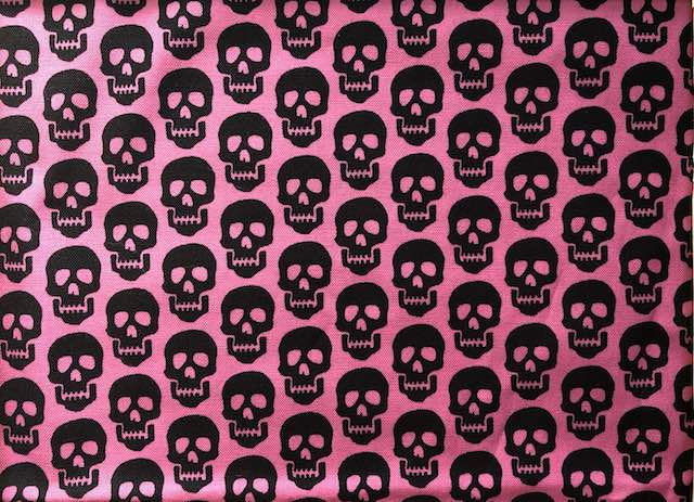 Skulls on pink adjustable face mask Zoe's Bag Boutique