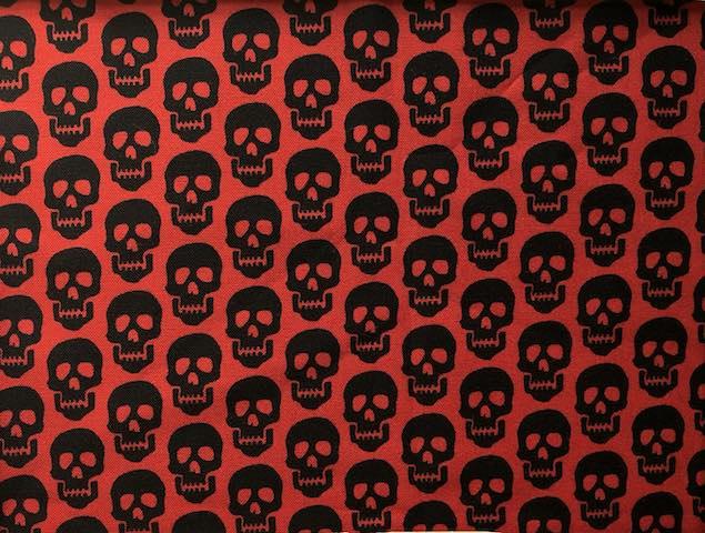 skulls on red face mask Zoe's Bag Boutique