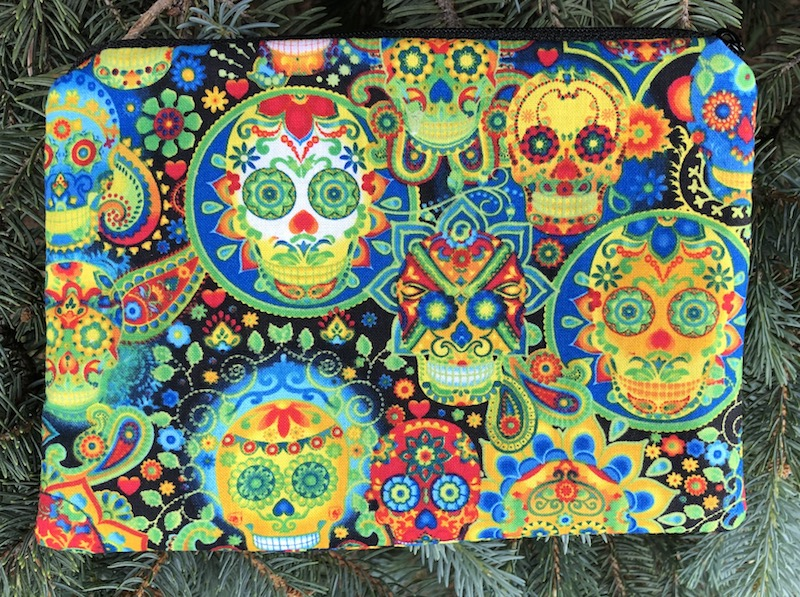 Sugar skulls zippered bag