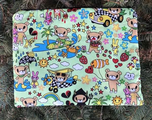 Kawaii teddy extra large pencil case makeup bag