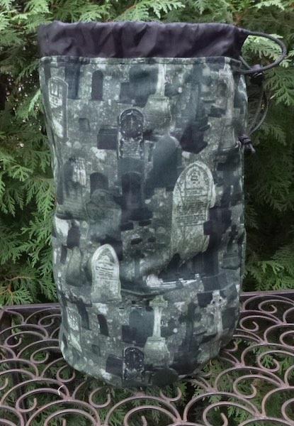 graveyard large bag with drawstring Goth giftd