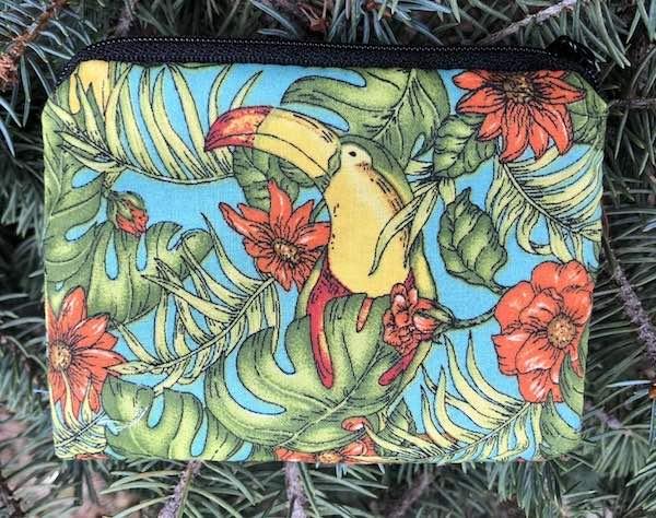 toucans flat bottom bag