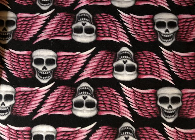 Winged skulls  adjustable face masks Zoe's Bag Boutique