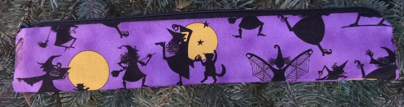witches and cats eco friendly pouch for reusable strawz