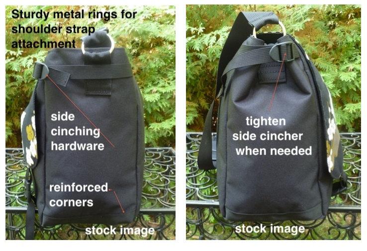 Handmade messenger bag vegan with pockets