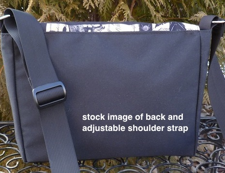 Mini messenger bag with adjustable shoulder strap