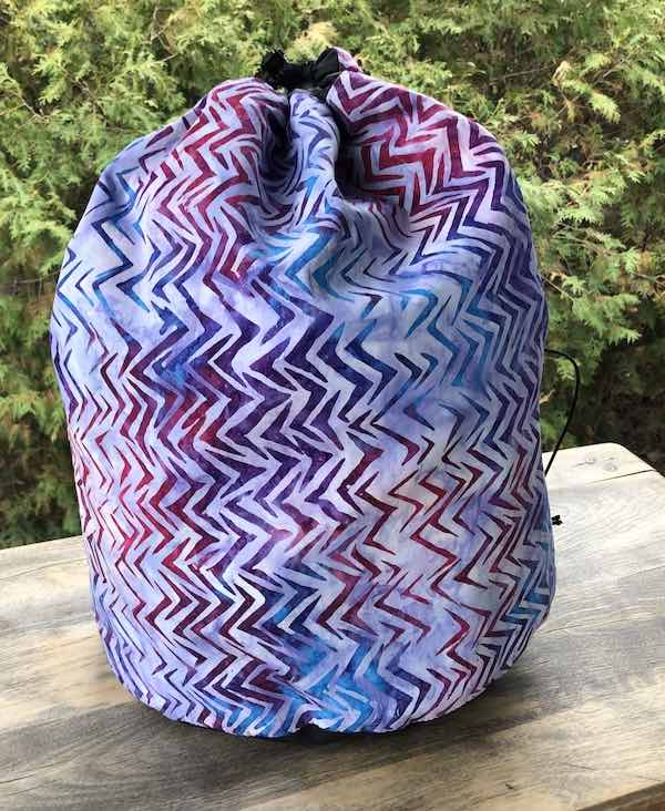 Batik large bag for knitting and crochet blanket and afghan projects