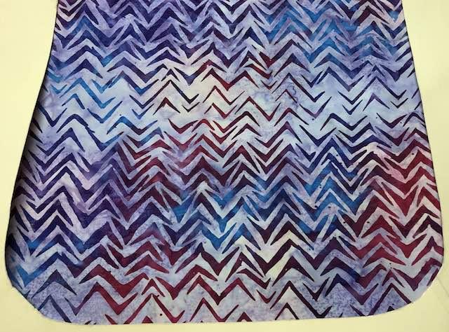 Purple batik flap for messenger bag