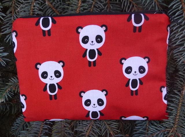 cute Panda zippered bag