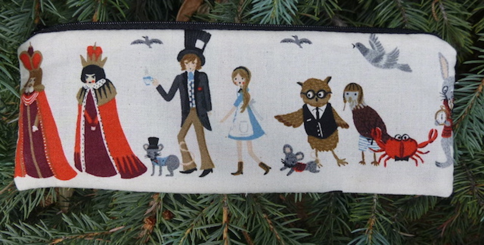 Alice in Wonderland pencil case
