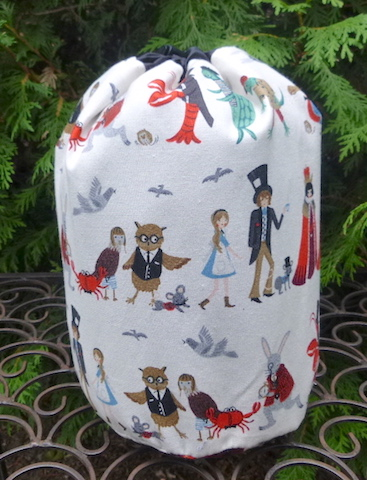 Alice in Wonderland knitting bag