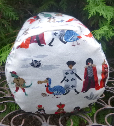 Alice in Wonderland round knitting bag