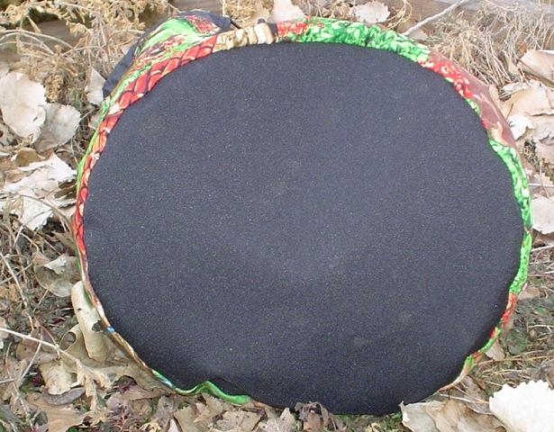 large round drawstring bag