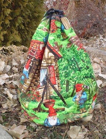 big drawstring knitting bag