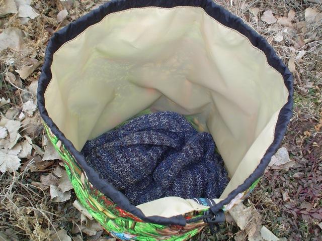 big round drawstring bag