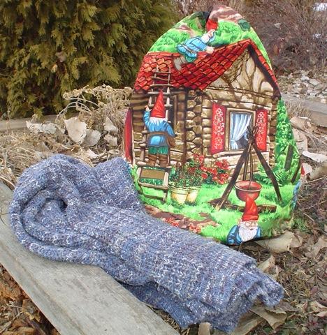 large drawstring knitting bag