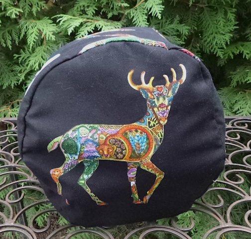 spirit animals round drawstring bag