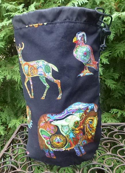Spirit animals large knitting bag