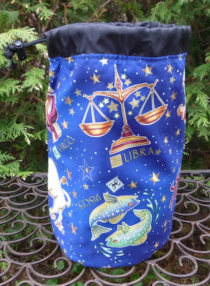astrological signs drawstring bag