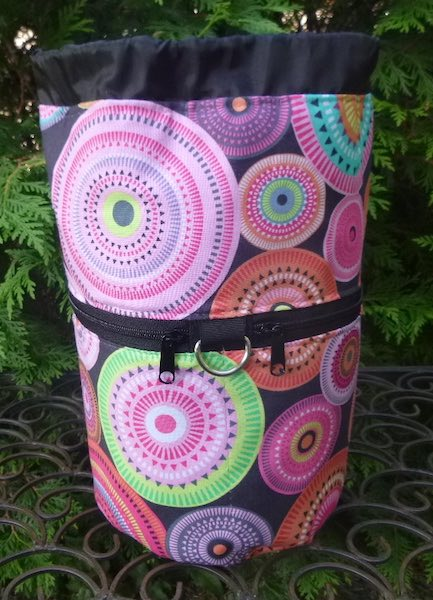 colorful knitting project bag