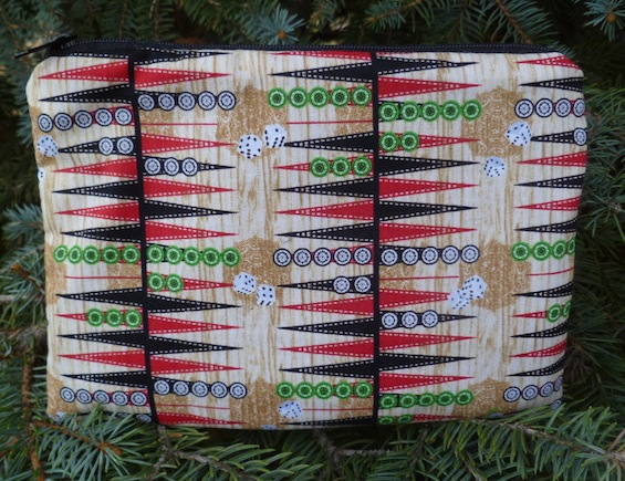 backgammon zippered pouch gift