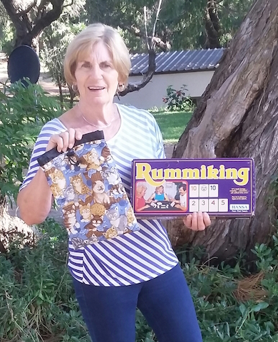 drawstring bag for Rummikub Rummiking game tiles