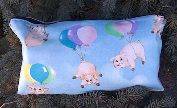 pigs and balloons flat bottom bag for mahjongg tiles