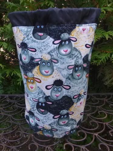 cute sheep knitting bag