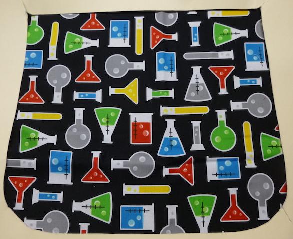 science beakers flap for messenger bag for science teacher