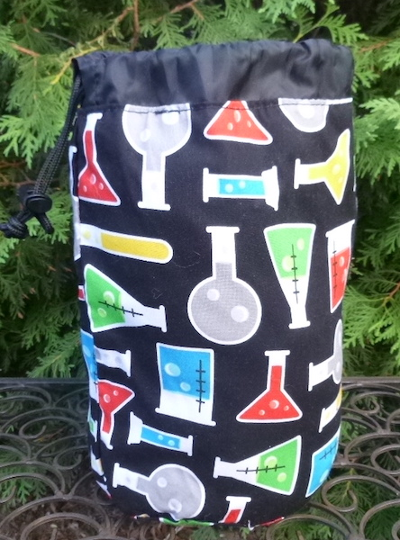 science beakers stuff sack