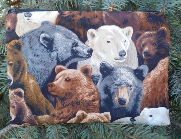 bears zippered bag
