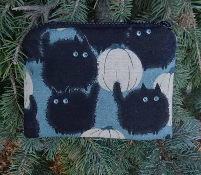 Fat black cat coin purse, Belinda's Big Kitty
