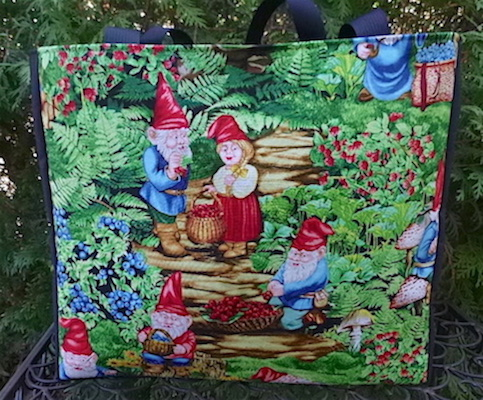 gnome tote bag for knitting