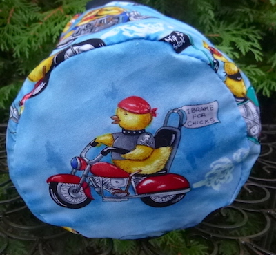 biker chicks knitting bag