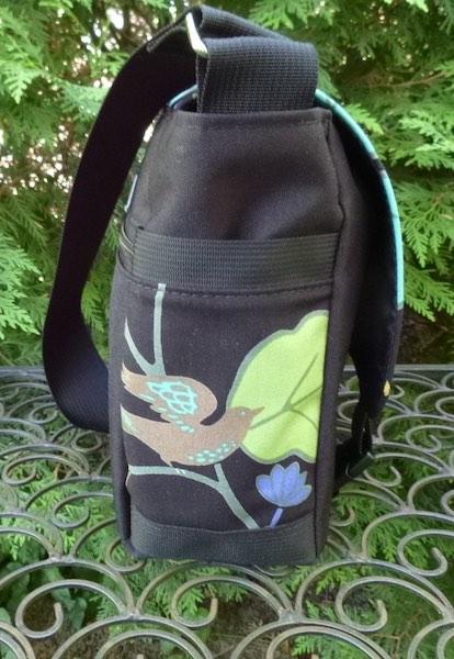 bird and flowers messenger bag