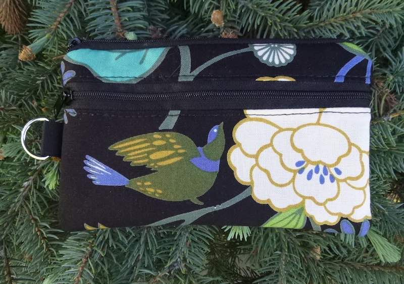bird and flowers mini wallet