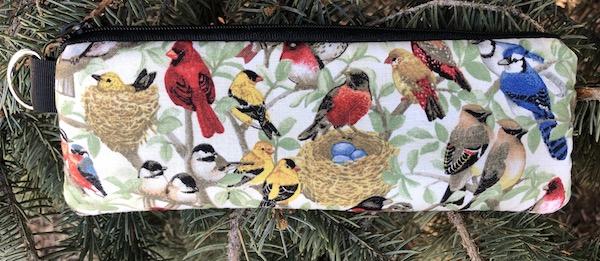 wild birds padded glasses case
