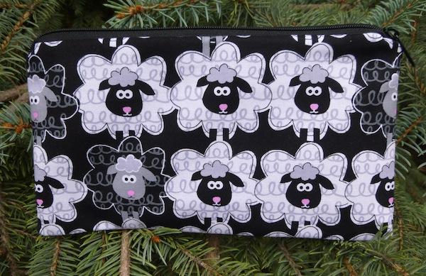 black and white sheep deep pencil case