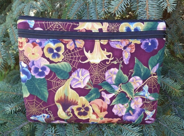 padded case for iPad with flowers and optional shoulder strap