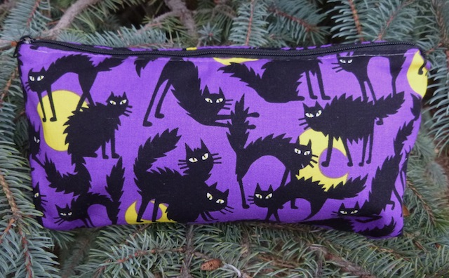black cats and moons cosmetic case