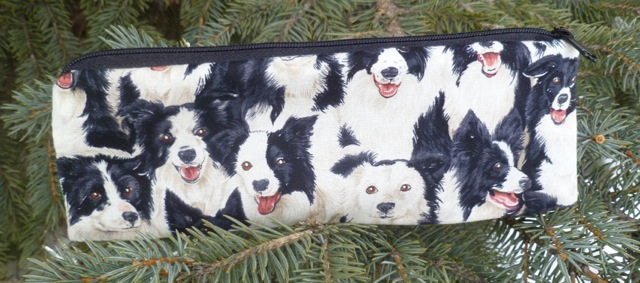 border collie pencil case
